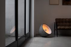 Ovalit handmade lamps by Miklos Leits floor lamp