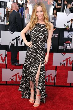 What: Juan Carlos Obando Where: 2014 MTV Movie Awards Why: Mann gets flirty in this thigh-high slit halter gown Celebrity Look, Celebrity Dresses, Star Fashion, Womens Fashion, Female Fashion, Red Carpet Dresses, Red Carpet Fashion, Mannequins, Summer Looks