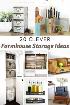 DIY Home Decor Inspiration : Illustration Description 20 Cleaver Farmhouse Storage Ideas Plenty of DIY and cleaver ways to store items in your home. -Read More – Furniture Inspiration, Home Decor Inspiration, Decor Ideas, Diy Ideas, Budget Home Decorating, Diy Home Decor, Organizing Your Home, Home Organization, Furniture Makeover