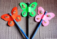 Summer+Crafts+for+Kids+-+Butterfly+Pencil+Topper