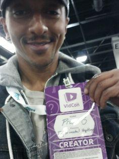 Now I'm official. Praiz-B at #Vidcon2015