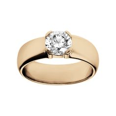 Elegant engagement ring Rome in 18-carat rose gold with a brilliant of 1 carat
