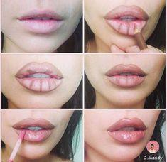 Como aumentar os lábios com maquiagem: