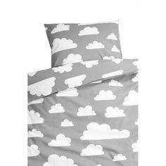 FÄRG & FORM Wolken Bettwäsche groß grau