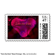 """Save the Date"" Heart Postage - Medium"
