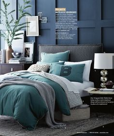 Love for Frankfort place! West Elm | October 2013 Catalog | Tonal Texture | Master Bedroom