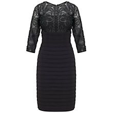 Buy Adrianna Papell Passementary Embroidery Banded Dress, Black Online at johnlewis.com http://www.johnlewis.com/adrianna-papell-passementary-embroidery-banded-dress-black/p1797317