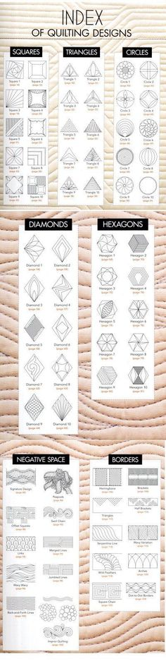 HEXAGON SWAP: Index of Quilting Designs by Erica.com