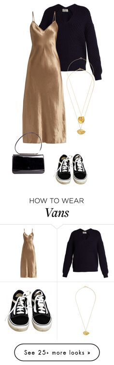 """Satin"" by deborarosa on Polyvore featuring Acne Studios, Vince, Vans, Gucci and Alighieri"