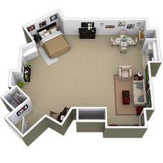 Studio Apartment Los Angeles park la brea apartments | california | pinterest