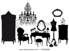 Elements of a victorian dressing room