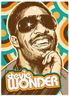 Stevie Wonder Pop Art Print 13x19