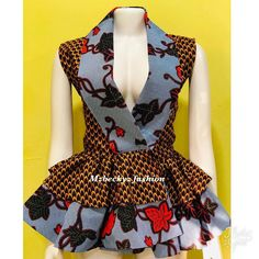 Beautiful And Lovely Ankara Peplum Top Styles for Ladies Ankara Dresses African Dresses For Kids, Latest African Fashion Dresses, African Print Dresses, African Print Fashion, Ankara Styles For Women, Latest Ankara Styles, Ankara Peplum Tops, Ankara Dress, African Attire