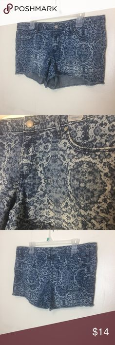 Water Stain Jean Shorts The design in these is absolutely amazing. They fit great and really catch eye. In great condition no flaws. Always open to offers 🌞 Mossimo Supply Co Shorts