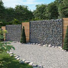 gabione steinkorb sichtschutz 1630mm anthrazit steinzaun gabionenzaun zaun