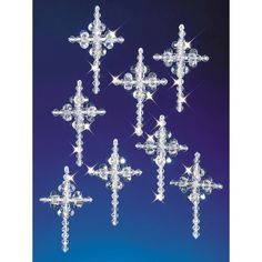 Crystal Crosses Holiday Beaded Ornament Kit - 14052771 - Overstock.com Shopping - Big Discounts on Seasonal Crafts #christmasfun