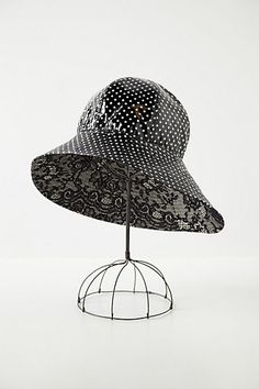 Dot-Drizzled Rain Hat - Anthropologie.com