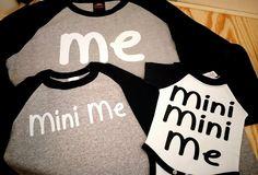 Me, Mini Me, Mini Mini Me shirts for Dads and Moms!   #CustomShirt #MiniMe…