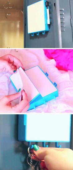 Dry erase Board | 15 DIY Locker Organization for School Girls