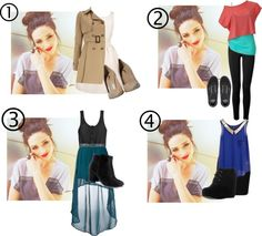 """""""Four outfits / One set"""" by tayzalo on Polyvore"""