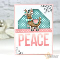 MFT Merry Everything, MFT Stitched Tag-Corner Square Stax die-namics, MFT Peace die-namics