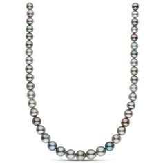8.1-11.8 mm AA+ Round Tahitian Pearl Necklace ($2,280) ❤ liked on Polyvore featuring jewelry, necklaces, tahitian pearl jewelry, tahitian pearl necklace, knot jewelry, knot necklaces and round necklace