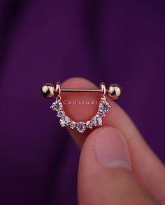 pezón anillo - nipple piercing - joyería de la entrerrosca - pezón barbell - pezón anillo de plata - pezón 14g