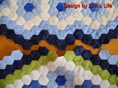 """Grit's Life: 9.Teil Hexagonquilt """"La Passion"""""""
