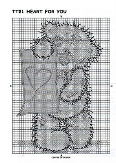 """Embroidery """"Heart for you"""" Wedding Cross Stitch Patterns, Counted Cross Stitch Patterns, Cross Stitch Charts, Cross Stitch Designs, Xmas Cross Stitch, Cross Stitch Bookmarks, Cross Stitching, Tatty Teddy, Embroidery Hearts"""