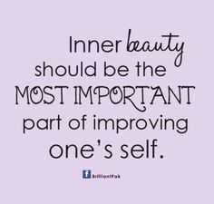 inner beauty is a part of improving life