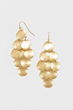 Diskette Chandelier Earrings in Gold