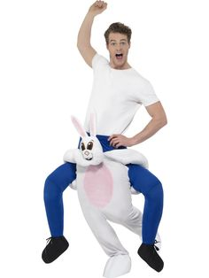 Work smart not hard and let the crafty rabbit be your ride. This funny carry me costume is one for the ages. Our Piggyback Rabbit Costume comes in a White One Piece Suit with Mock Legs Polyester (Exclusive of Trims) View Size Chart
