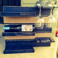 Wine Rack. Wine Holder. Pallet Wine Rack. by SawyersRusticPallets on Etsy