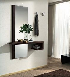 Awesome ideas for decorating the hallway with modern wall mirror designs, home interior wall mirror decor ideas for modern style apartments 2019