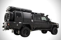 Patriot Campers' Blacked-Out Land Cruiser Super Tourer Was Built For Exploration Motorcycle Camping, Camping Gear, Radios, Landcruiser 79 Series, Tactical Truck, Tactical Wall, Planes, Toyota Lc, Bug Out Vehicle
