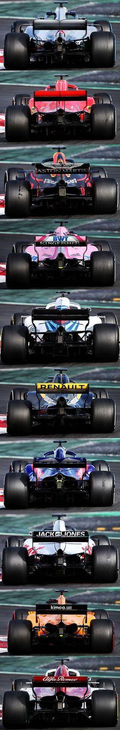 F1-2018 全チームのマシン画像並べて比較!レッドブルのサイドポンツーン薄すぎ!   F1モタスポGP.com