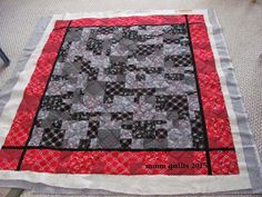 mmm quilts: What is Black and White and Red all over?
