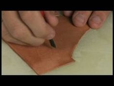 Basic Leather Working : How to Use Knives in Leather Working
