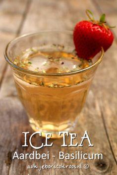 Basilicum - Aardbei Ice Tea - IJsthee - Recept op blog