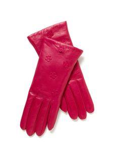 Portolano's Flower Leather Gloves