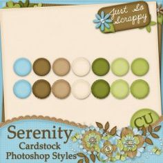 Serenity Cardstock Photoshop Styles
