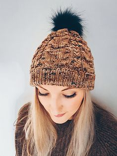 Ravelry: Foal Hat pattern by Beatrice Alexander-Howden Faux Fur Pom Pom, Hat Patterns, Needles Sizes, Hat Sizes, Simple Way, Ravelry, Knitted Hats, Knitting, Tricot