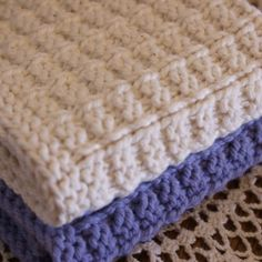 Waffle Knit Dishcloths