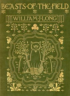 Original green cloth with beautiful gilt detail: Beasts of the Field. William J Long 1901. Old Books & Things..