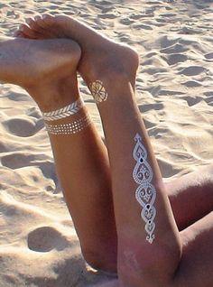 Vrac, bijoux tatouage temporaire or et d'argent est une création orginale de kekugi-bisuteriaencuero-patiartesania sur DaWanda
