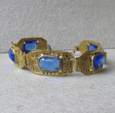 Vintage Costume Jewelry, Vintage Costumes, Vintage Jewelry, 1920s Art Deco, Victorian Jewelry, Ruby Lane, Vintage Rhinestone, Czech Glass, Egyptian