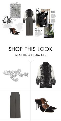 """""""Untitled #412"""" by dulmik ❤ liked on Polyvore featuring Anna Sui, Temperley London and Malone Souliers"""