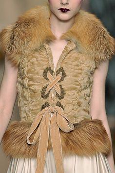Fur vest for Lyanna Mormont, Dior