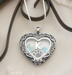 Cat Locket, Cat Heart Locket, Personalized Cat Necklace, Cat Heart Necklace, Cat Paw Necklace, Letter Birthstone, Cat Lover Gifts, Custom