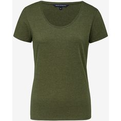 HAYLEY STRETCH SCOOP NECK TEE ($15) ❤ liked on Polyvore featuring tops, t-shirts, green tee, stretchy tops, stretch top, stretch t shirt and basic tshirt
